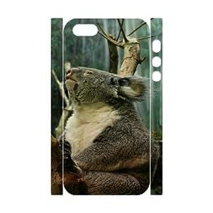 3D Bumper Plastic Customized Case Of Koala for iPhone 5,5S