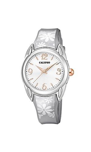 Calypso Reloj Análogo clásico para Mujer de Cuarzo con Correa en Plástico K5734/4: Amazon.es: Relojes