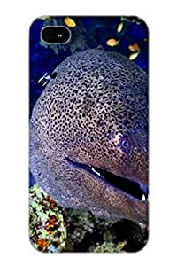 Defender Case For Iphone 4/4s, Giant Moray Red Sea Pattern, Nice Case For Lover's Gift