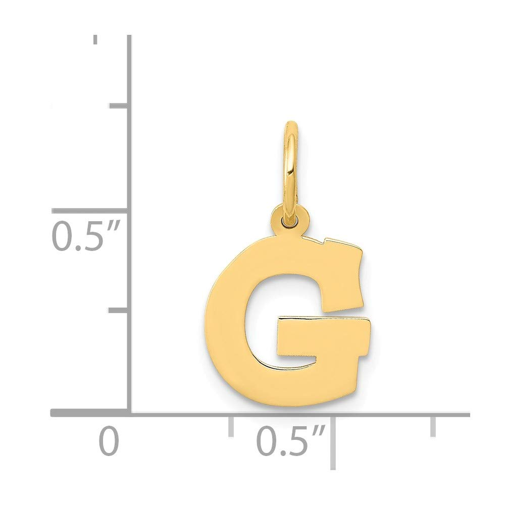 14k Yellow Gold Small Block Initial Monogram Name Letter G Pendant Charm Necklace Fine Jewelry Gifts For Women For Her