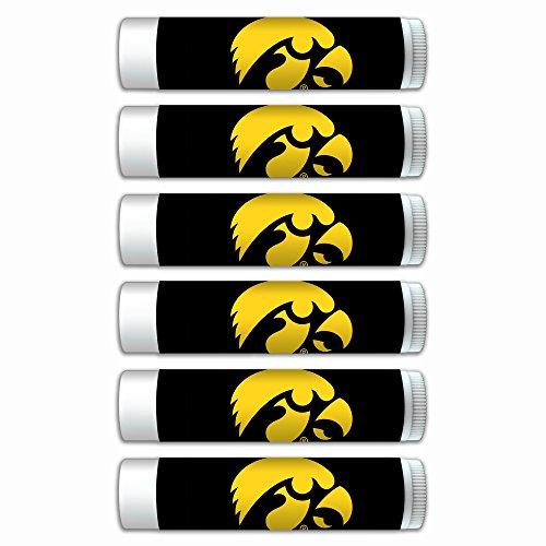 NCAA Iowa Hawkeyes Premium Lip Balm 6-Pack Featuring