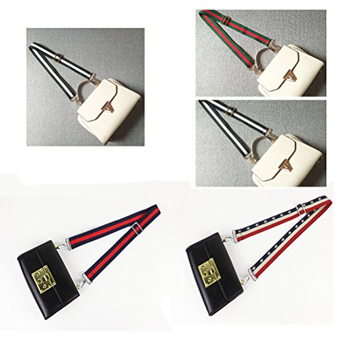 Multicolor Canvas Wide Strap Replacement Purse Strap Replacement Removable Crossbody Strap for Handbags by OPOO (Image #5)