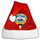 ODLS7 Coat Of Arms Of Kuwait Christmas Gifts Hats Santa Hats Fashion Holiday Home Party Decorations For Kids Adult
