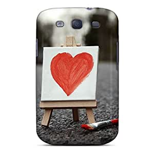 High Quality CalmCases Red Heart Wallpaper Skin Case Cover Specially Designed For Galaxy - S3