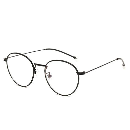 5bdec281463a Langford Retro Round Frame Glasses 52 mm Clear Plastic Lens For Women  Diamond