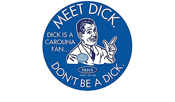Dont be a D!ck Royal Sticker Duke Fans Anti-Tarheels