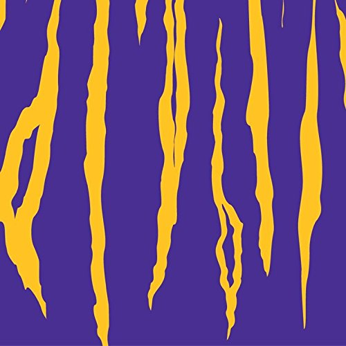 Havercamp Luncheon Napkins, LSU Purple and Yellow Tiger Stripe, 16-pack, Team Colors Party Collection