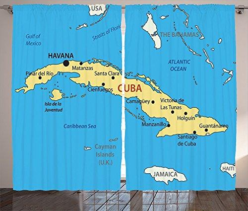 Wanderlust Decor Curtains Republic Of Cuba Modern Geographical