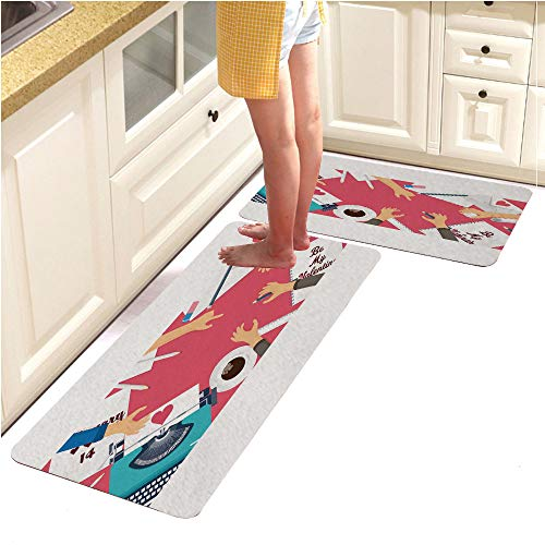 Kitchen Mat,Decorative Non-Slip Microfiber Doormat for sale  Delivered anywhere in USA