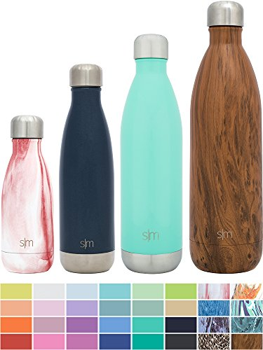 Simple Modern 17oz Wave Water Bottle - Vacuum Insulated Double-Walled 18/8 Stainless Steel Hydro Swell Flask - Deep Ocean Blue