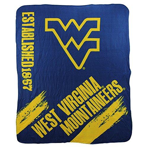The Northwest Company NCAA Collegiate School Logo Fleece Blanket (West Virginia Mountaineers)