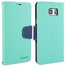 Samsung Galaxy Note 5 Case, Note5 Leather Case, Folio Card Slot Wallet Cover with Magnetic Closure, Carrying Strap and Stand Function for Samsung Galaxy Note5 (Green)