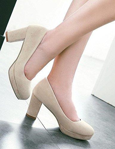 Nouveau Style Aisun Beige Rond Femme Classique Bout Escarpins XwxAgqBIZx