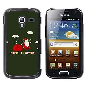 FECELL CITY // Duro Aluminio Pegatina PC Caso decorativo Funda Carcasa de Protección para Samsung Galaxy Ace 2 I8160 Ace II X S7560M // Winter Christmas Merry Holidays Gift