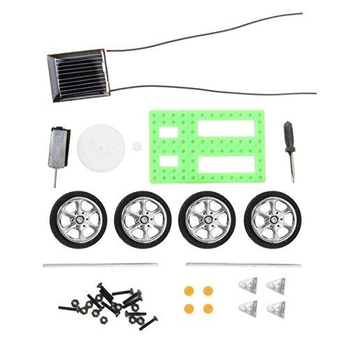 Fashionclubs DIY Assemble Solar Power Car Toy Kit Science Educational Gadget Hobby