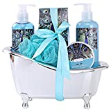"Spa Gift Basket for Women with Refreshing ""Ocean Mint"" Fragrance by Draizee – Luxury Skin Care Set Includes 100% Natural Shower Gel, Bubble Bath, Body Lotion, Bath Salt and Much More! – #1 Best Gift Idea for Wife, Mom, Girlfriend, for Christmas"