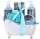 Spa Gift Basket for Women with Refreshing 'Ocean Mint' Fragrance by Draizee-#1 Best Gift for Mother's Day - Luxury Skin Care Set Includes 100% Natural Gels Lotions & More!