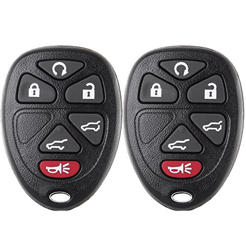 - ECCPP Keyless Entry Remote Key Fob 6 Buttons Replacement fit for Cadillac Escalade/Chevrolet Suburban 1500 2500 Tahoe/GMC Yukon XL 1500 2500 OUC60270 (Pack of 2)