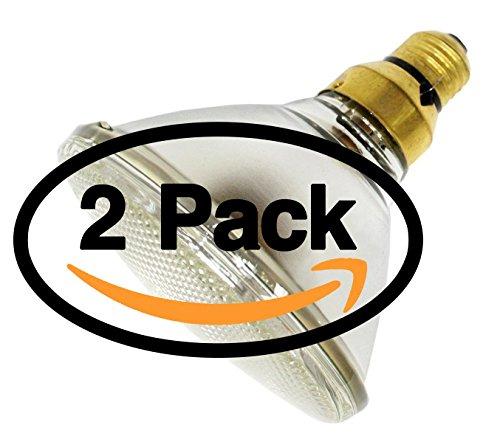 60w Spotlight ((2 Pack) GE 18627 60PAR/HIR/SP10 60 Watt PAR38 75 Watt Equivalent Dimmable Indoor Outdoor Halogen Spot Light Bulb 60W 120 Volt Spotlight Medium Skirted Base Alt To 60PAR/SP10/HIR 65W 70W 75W)