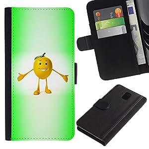 [Neutron-Star] Modelo colorido cuero de la carpeta del tirón del caso cubierta piel Holster Funda protecció Para Samsung Galaxy Note 3 III [Funny Fruit]
