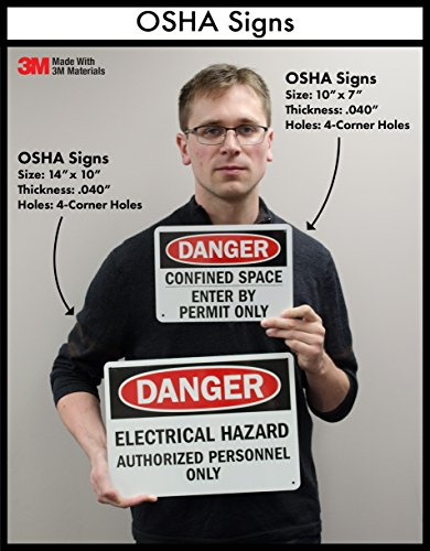 """SmartSign Plastic Sign, Legend """"Notice: Safety Glasses and Safety Shoes Required"""", 7"""" high x 10"""" wide, Black/Blue on White"""