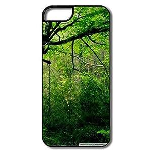IPhone 5 5S Cover, Beautiful Tree White/black Case For IPhone 5/5S wangjiang maoyi