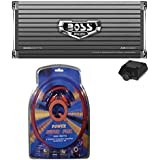Boss Armor AR4000D 4000w Mono Car Audio Class D Power Amplifier+Remote+Amp Kit