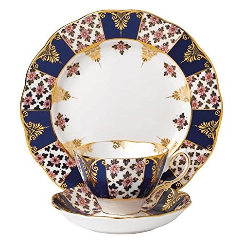 Royal Albert 3 Piece 100 Years 1900 Teacup, Saucer & Plate Set, 8