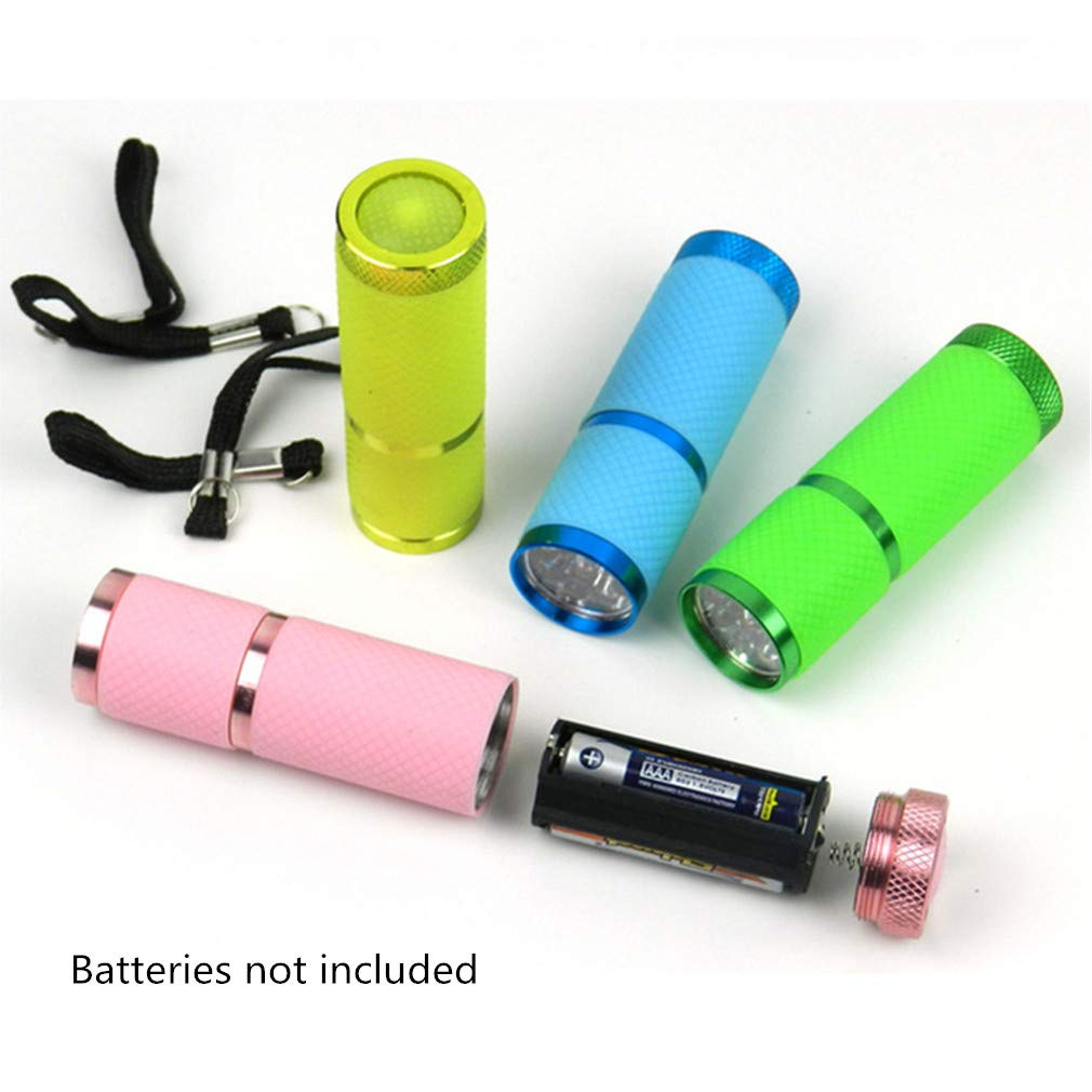 Blue Mini LED Flashlight Portable 9-LED Bright Torch Light Battery Powered for Camping Hiking Cycling Walking by SamGreatWorld