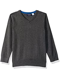 Baby Boys' Solid V-Neck Sweater