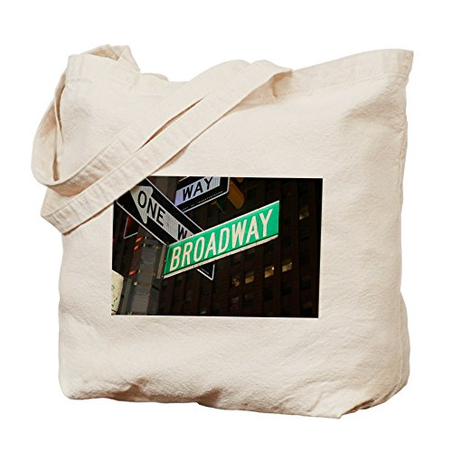 CafePress - Broadway - Natural Canvas Tote Bag, Cloth Shopping - Broadway Nyc Shopping