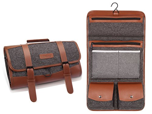 Hanging Leather Toiletry Bag - 7