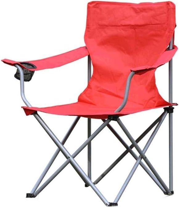 Sillas Plegables Al Aire Libre, Plegable, Silla, Portátil, Camping, Playa, Pesca, Bocetos, Portátil, Carga 150Kg, Paño de Oxford, Altura 42cm (Color : Red): Amazon.es: Hogar