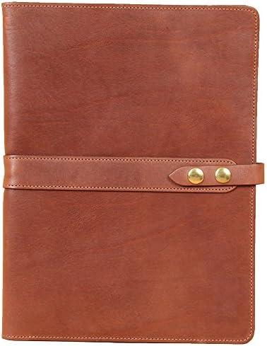Leather Business Portfolio Notebook Writing