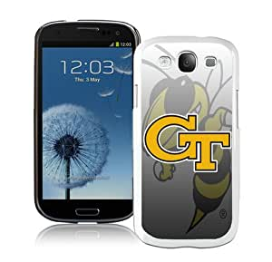 Personalized Georgia Tech Yellow Jackets 4 White Samsung Galaxy S3 I9300 Protective Phone Case