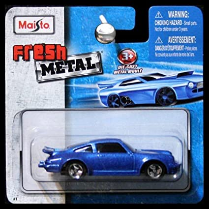 Maisto Fresh Metal Die-Cast Vehicles ~ Porsche 911 Turbo #3 (Metallic Blue