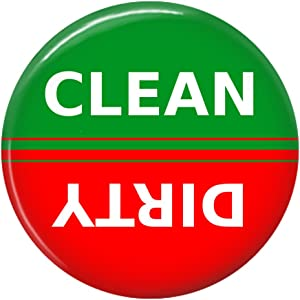 Clean Dirty Dishwasher Magnet Sign Indicator (Red Green)