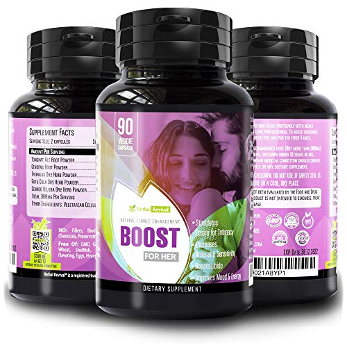 Natural Herbal Female Desire Supplement - Magic Pill for Women Testosterone Booster, Increase Stamina & Energy, Boosts Bed Drive & Prevent Vaginal Dryness 100% Organic Women Supplements 90 Veggie Pill (Sex Enhancements Drops)