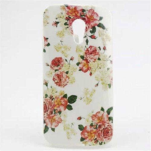 Motorola Moto G (2nd Generation) Case, IVY Rose Flower Graphic,Snap-on TPU&IMD Soft Case Cover Skin For Motorola Moto G (2nd Generation) (Motorola G Cover 2nd Generation)