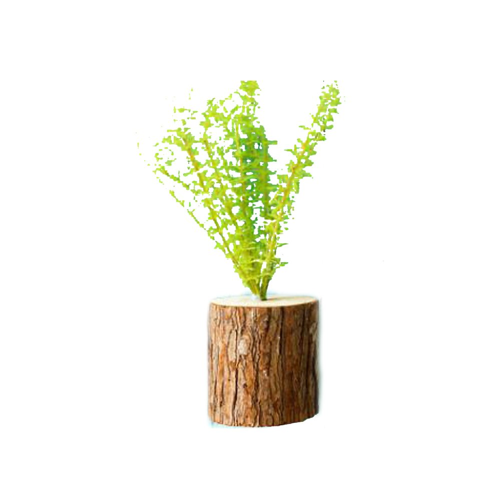 BAOCENG Simulation Potted Plant Solid Wood Pile Wall Artificial Plants Home Decor