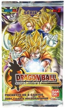BANDAI Dragonball – Juego de Cartas – Serie 2 – Holographic – Pack de 8 Tarjetas incluidos 1 05103: Amazon.es: Juguetes y juegos