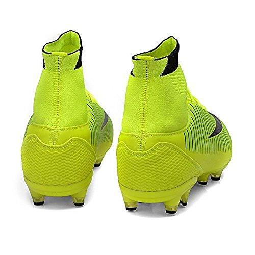 ASHION Botas de Fútbol para Hombre Equipo de deportes al aire libre Verde