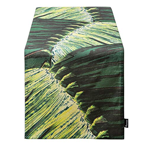 Phantoscope Decorative Tropical Island Series Palm Leaf Table Runner 14