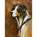 Canvas Prints Of Oil Painting ' a Dog ' , 18 x 24 inch / 46 x 62 cm , High Quality Polyster Canvas Is For Gifts And Bar, Bed Room And Laundry Room Decoration, inexpensive