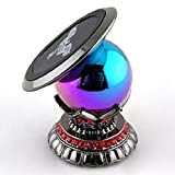 Car Phone Holder Universal Magnetic Cell Phone Kit 360 Degrees Phone Dashboard Car Mount Smartphone Phone GPS Magnetic For Any Flat Surface, Desk, Wall, Dashboard (Pearl with Red Stones) with Gift Box