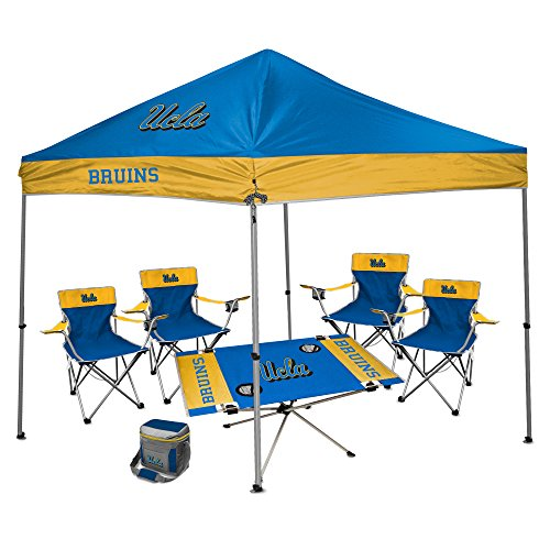 NCAA Hall of Fame Tailgate Bundle - UCLA (1 9x9 Canopy, 4 Kickoff Chairs, 1 16 Can Cooler, 1 Endzone Table)