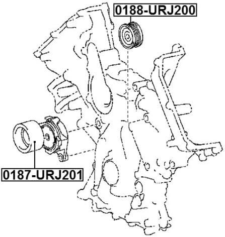 FEBEST 0187-URJ201 Idler Pulley