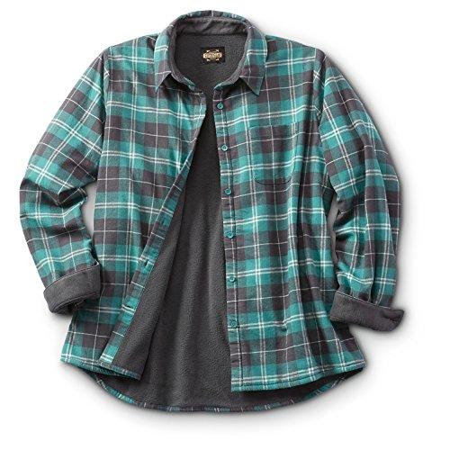 (Guide Gear Women's Fleece-Lined Flannel Shirt)
