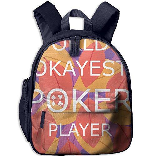 World's Okayest Poker Player Hot Sale Child Shoulder School Bag School Backpack Satchel For Teens Boys Girls Students Navy