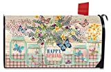 Briarwood Lane Happy Spring Mason Jar Floral Magnetic Mailbox Cover Standard